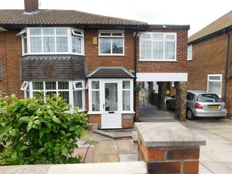3 Bedrooms Semi Detached House for sale in Sherwood Road, Woodley, Stockport