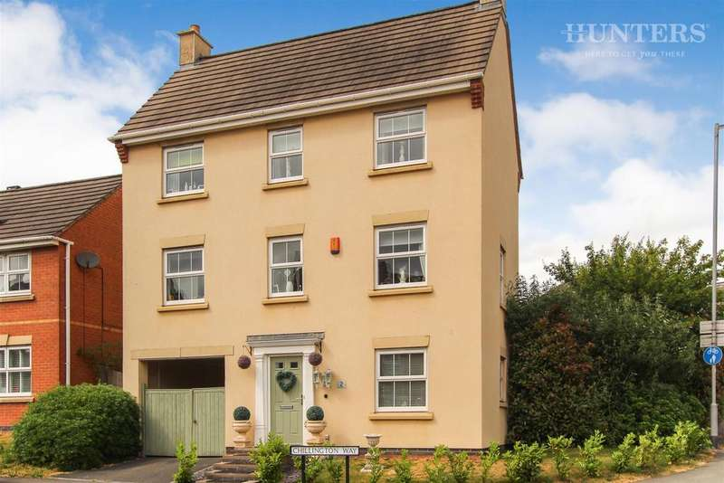 4 Bedrooms Detached House for sale in Chillington Way, Norton Heights, ST6 8GA
