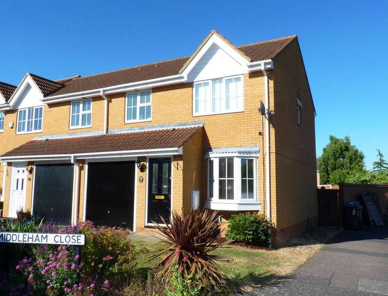 3 Bedrooms End Of Terrace House for sale in Middleham Close, Sandy SG19