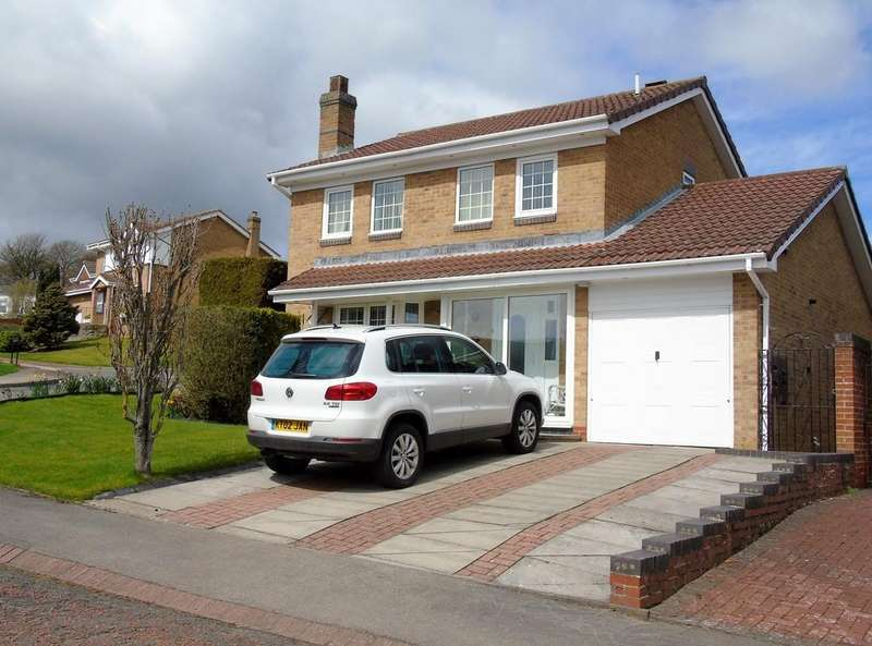 4 Bedrooms Detached House for sale in Fielding Court, High Farm, Crook