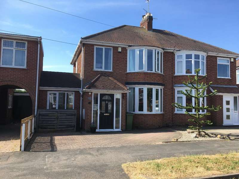 3 Bedrooms Semi Detached House for sale in Queens Drive, Leicester Forest East, Leicester, Leicestershire, LE3 3JL