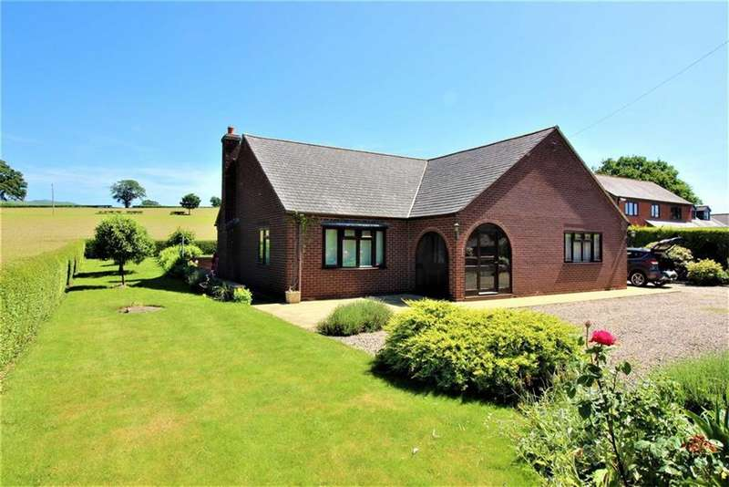2 Bedrooms Detached Bungalow for sale in Macathro, Chirbury, Montgomery, Powys, SY15