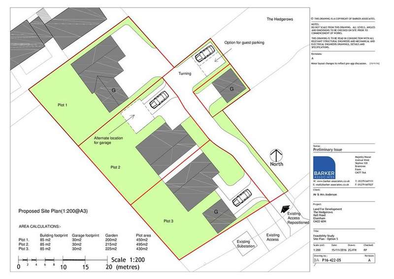 Plot Commercial for sale in Hall Road Elsenham boutique building plot