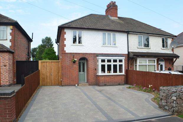 3 Bedrooms Semi Detached House for sale in Leicester Road, Enderby, Leicester, LE19