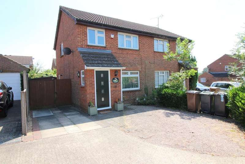 3 Bedrooms Semi Detached House for sale in Markfield Close, Luton, Bedfordshire, LU3 2HY
