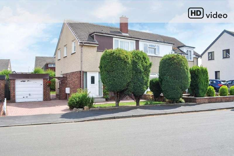 3 Bedrooms Semi Detached House for sale in Merlin Avenue, Bellshill, North Lanarkshire, ML4 1LA