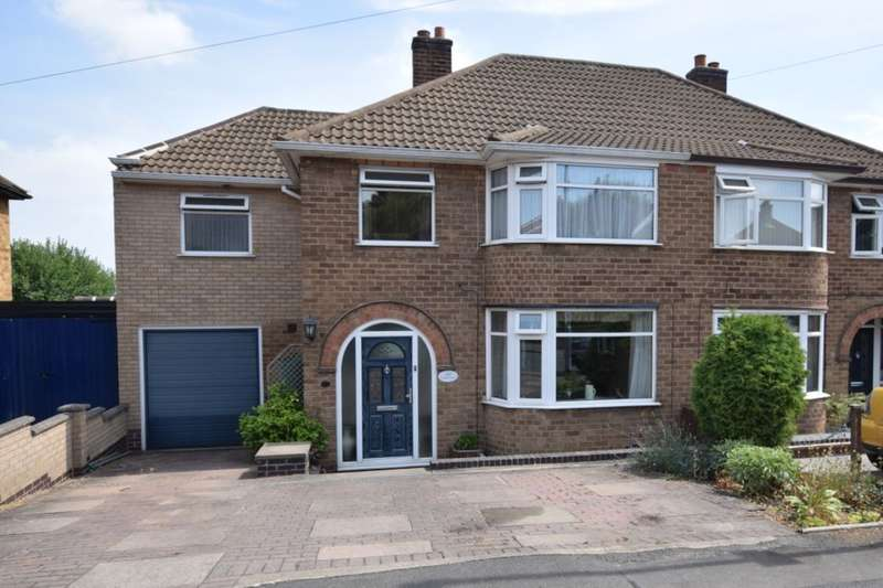 4 Bedrooms Semi Detached House for sale in Woodgate Drive, Birstall, Leicester, LE4