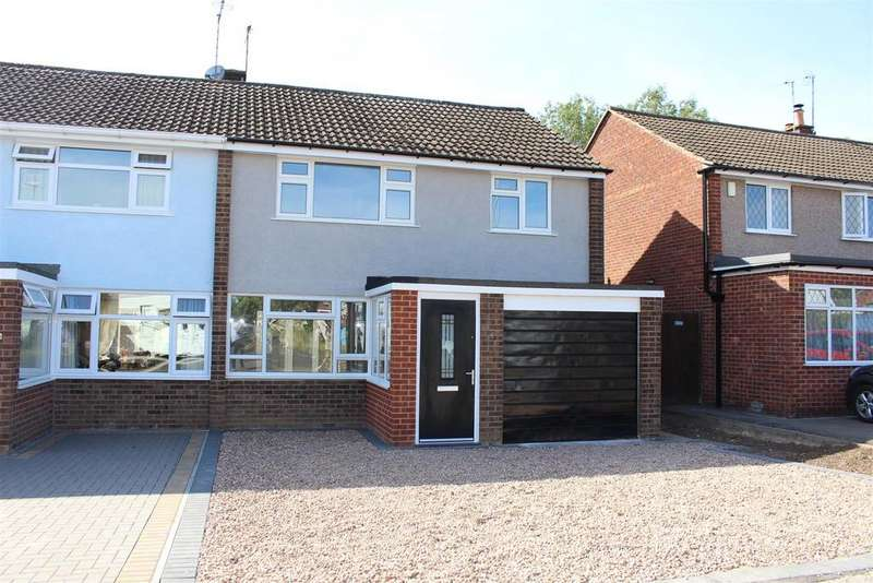 3 Bedrooms Semi Detached House for sale in Coleridge Drive, Enderby, Leicester