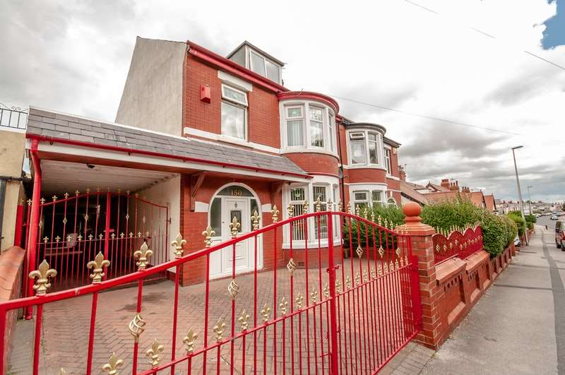 4 Bedrooms Semi Detached House for sale in Warley Road, Blackpool, Lancashire, FY1