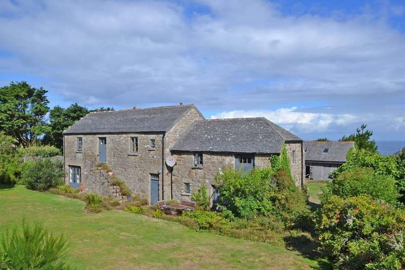4 Bedrooms Detached House for sale in Zennor, Nr. St Ives, West Cornwall, TR26