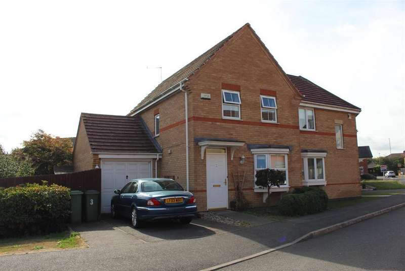 3 Bedrooms Semi Detached House for sale in Loughland Close, Blaby