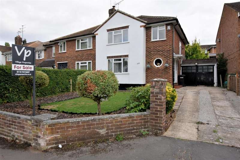 3 Bedrooms Semi Detached House for sale in Overdown Road, Tilehurst, Reading