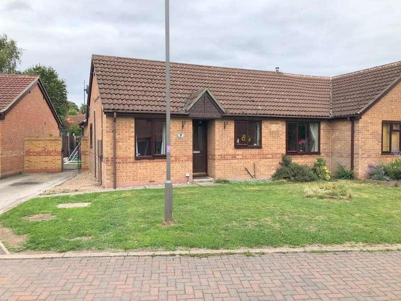 3 Bedrooms Semi Detached Bungalow for sale in Melton Court, Riddings, Alfreton