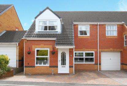 3 Bedrooms Semi Detached House for sale in Cherry Tree Drive, Duckmanton, Chesterfield, Derbyshire