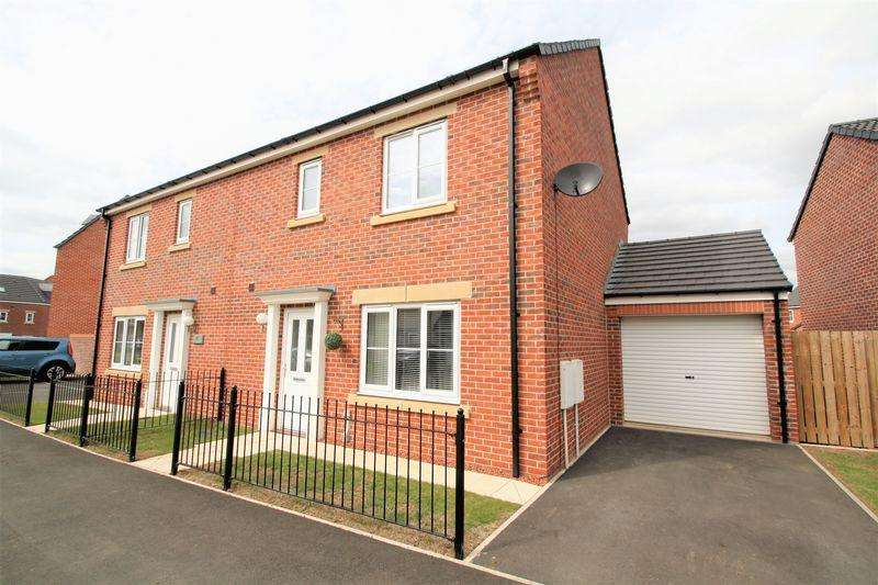 3 Bedrooms Semi Detached House for sale in Sculptor Crescent, Queensgate, Stockton, TS18 3QR