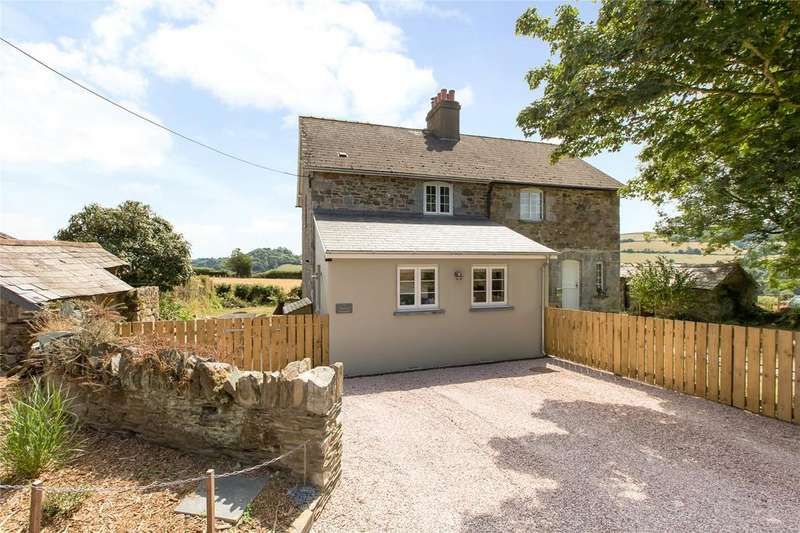 3 Bedrooms Semi Detached House for sale in Weston Cottages, Nr Totnes, Devon, TQ11