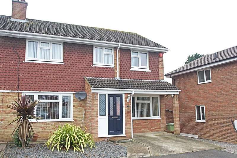 3 Bedrooms Semi Detached House for sale in Calluna Drive, Bletchley, Milton Keynes