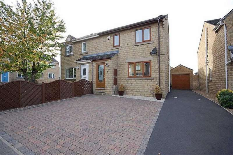 3 Bedrooms Semi Detached House for sale in Oliver Meadows, Elland, HX5