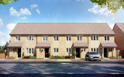 2 Bedrooms End Of Terrace House for sale in Miliners Place, Caleb Close, Luton