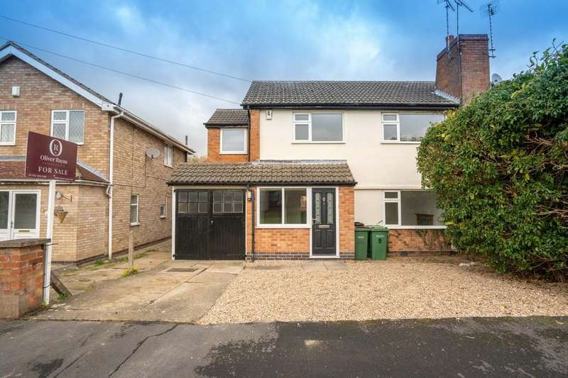 4 Bedrooms Semi Detached House for sale in Elwin Avenue, Wigston, Leicester