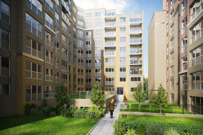 2 Bedrooms Apartment Flat for sale in Saxon Square, Laurence Court, LU2