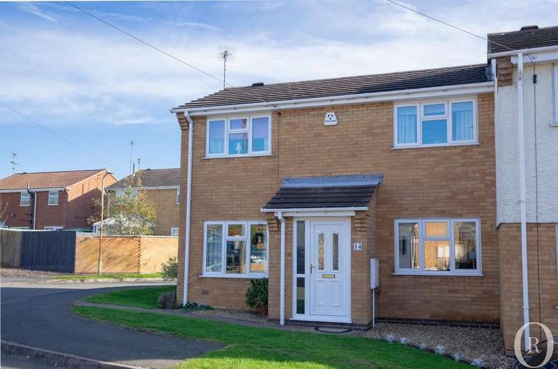 3 Bedrooms Semi Detached House for sale in Victoria Drive, Groby, Leicester