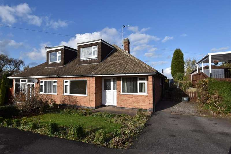 3 Bedrooms Semi Detached Bungalow for sale in Brookside Close, Shepshed, Loughborough