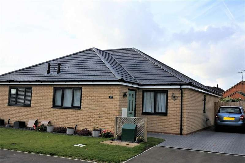 2 Bedrooms Semi Detached Bungalow for sale in Marratts Lane, Great Gonerby, Grantham
