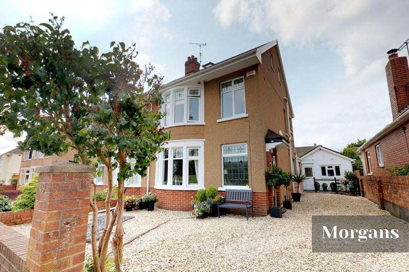 4 Bedrooms Semi Detached House for sale in King George V Drive West, Heath, Cardiff
