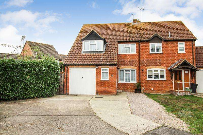 3 Bedrooms Semi Detached House for sale in Kennet Lea, Thatcham