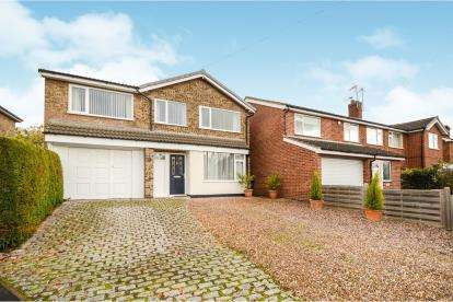 4 Bedrooms Detached House for sale in Oriel Drive, Syston, Leicester, Leicestershire
