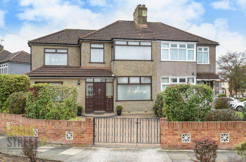4 Bedrooms Semi Detached House for sale in Tennyson Way, Hornchurch, RM12