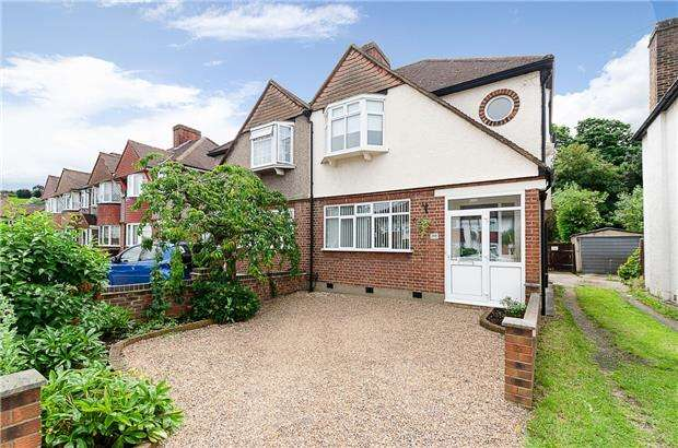 3 Bedrooms Semi Detached House for sale in Hillcross Avenue, MORDEN, Surrey, SM4 4AZ