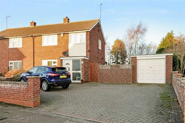 3 Bedrooms Semi Detached House for sale in Knights Avenue, Clapham, Bedford