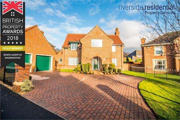 4 Bedrooms Detached House for sale in Bramhall Drive, High generals Wood, Washington, Tyne and Wear. NE38 9BD