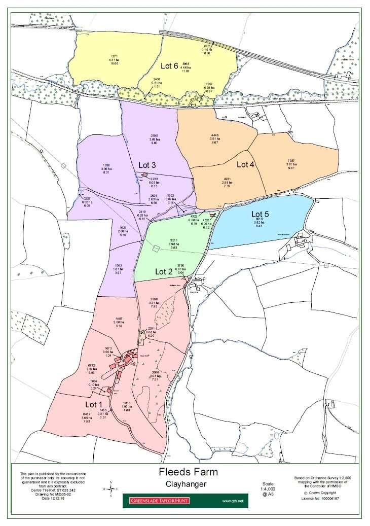 Land Commercial for sale in Fleeds Farm - Lot 6, Clayhanger, Tiverton, Devon, EX16