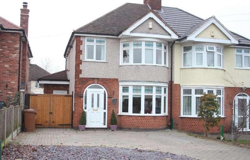 3 Bedrooms Semi Detached House for sale in Cowper Road, Burbage, Hinckley