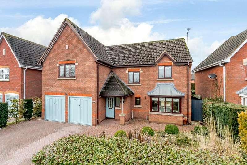 4 Bedrooms Detached House for sale in Woodcock Close, Gilmorton, Lutterworth, Leicestershire