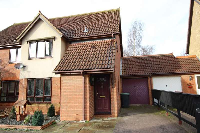 3 Bedrooms Semi Detached House for sale in Partridge Piece, Sandy, SG19