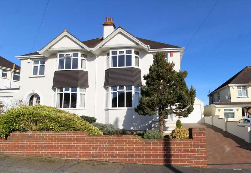 4 Bedrooms Semi Detached House for sale in Lloyd Avenue, Shiphay, Torquay