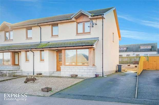 3 Bedrooms Semi Detached House for sale in Clubb Crescent, New Deer, Turriff, Aberdeenshire