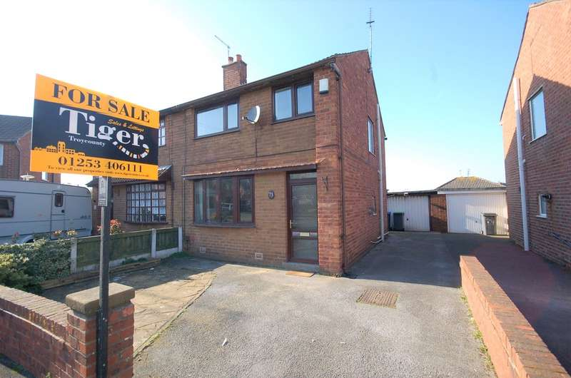3 Bedrooms Semi Detached House for sale in Meanwood Avenue, Blackpool