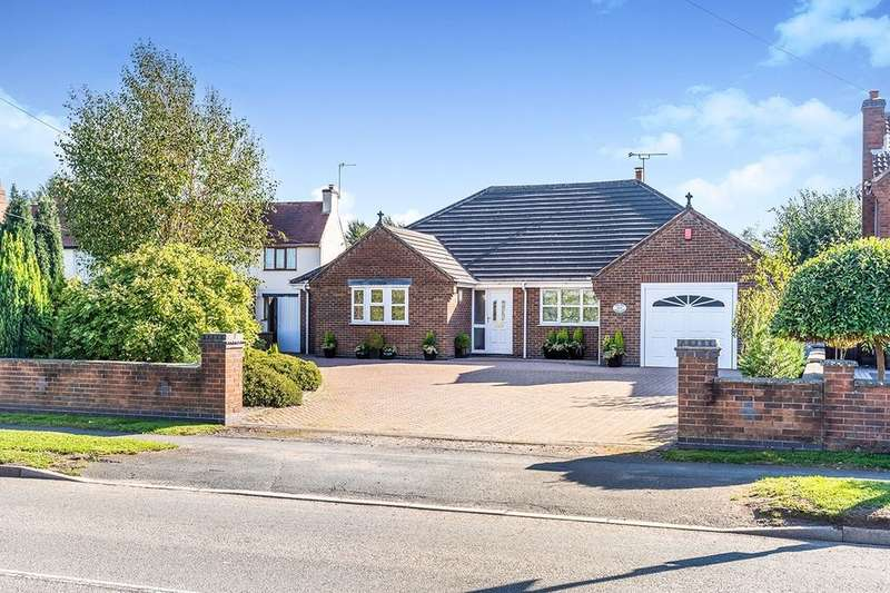 3 Bedrooms Detached Bungalow for sale in Leicester Road, Ibstock, LE67