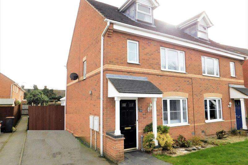 3 Bedrooms Semi Detached House for sale in Sandringham Road, Coalville