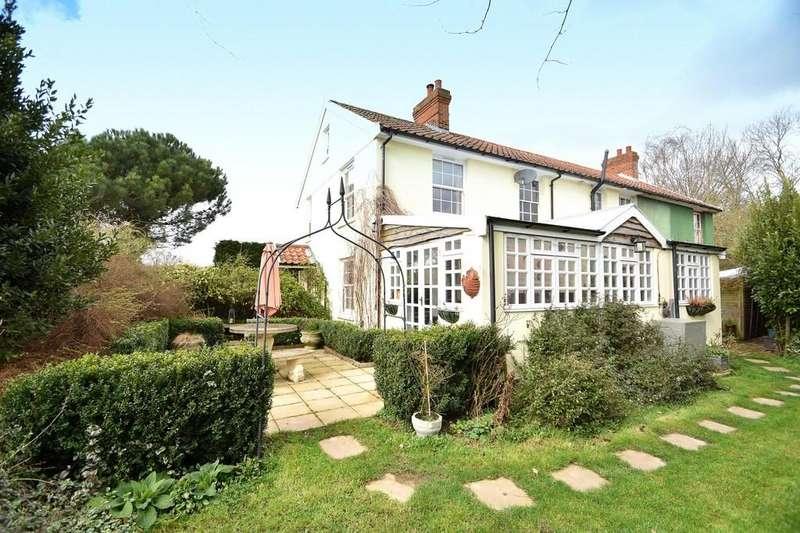 4 Bedrooms Semi Detached House for sale in Latimer Cottages, Holbrook, Ipswich, IP9 2PL