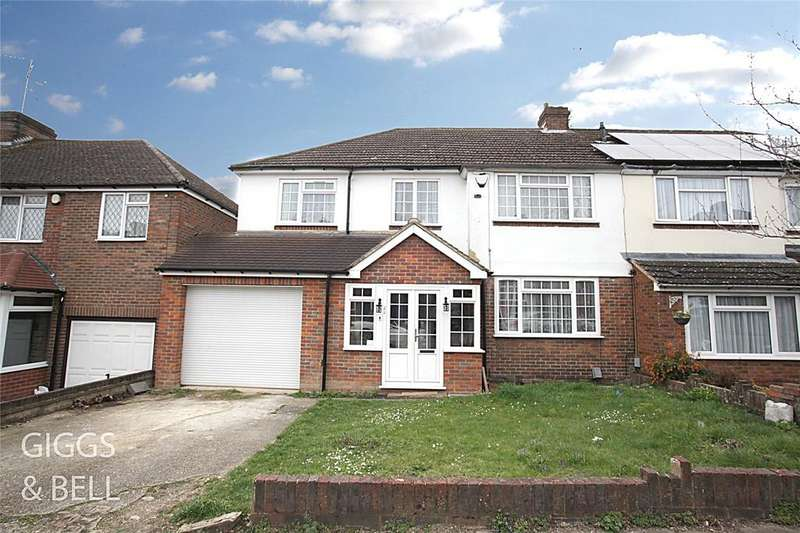 5 Bedrooms Semi Detached House for sale in Manton Drive, Luton, Bedfordshire, LU2