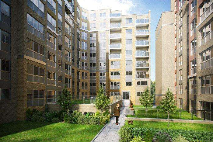 2 Bedrooms Apartment Flat for sale in Aurence Court, Saxon Square, Stirling Drive, Luton, LU2