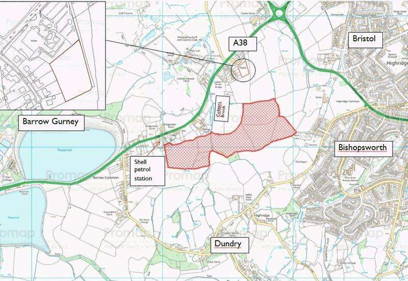 Land Commercial for sale in 56.6 Acres land Buildings 1.5 acre paddock at Bridgwater Road, Dundry, Bristol BS41 8JP