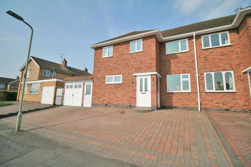3 Bedrooms Semi Detached House for sale in Ambergate Drive, Leicester