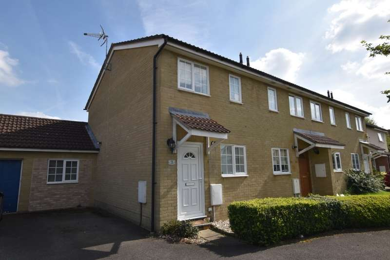 3 Bedrooms End Of Terrace House for sale in Blackbird Close, Burghfield Common, Reading, RG7